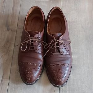Madewell 1937 keaton brown oxfords flat shoes